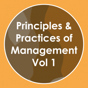 Principles & Practices of Management Vol-01 to 10