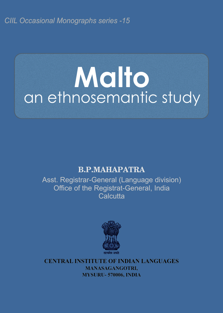 Malto an Ethnosemantic Study