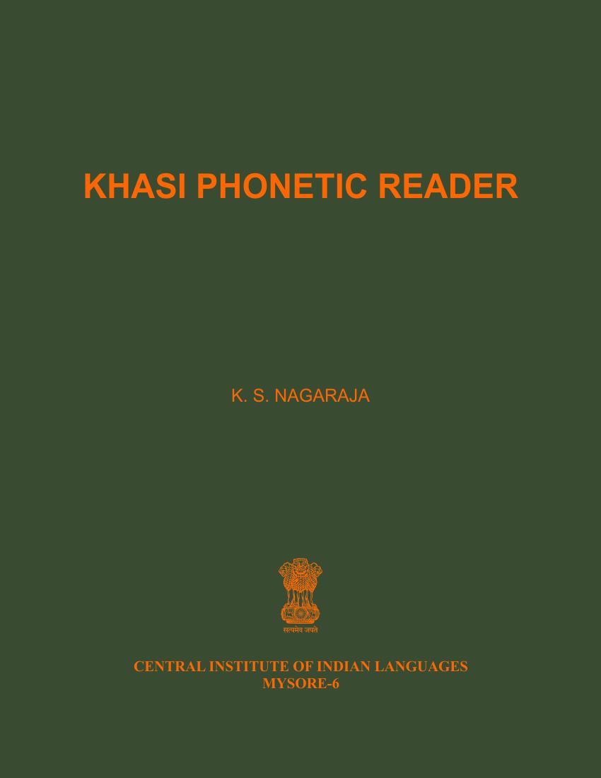 Khasi Phonetic Reader