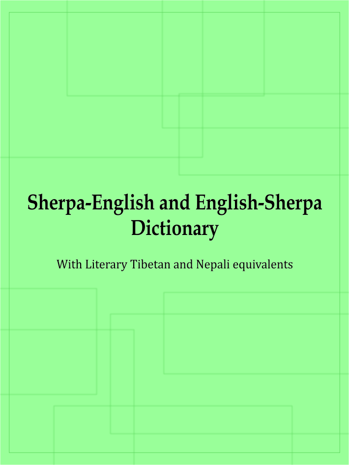 Sherpa-English & English-Sherpa Dictionary