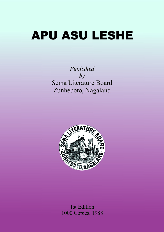 Apu Asu Leshe, Class XI - XII & BA (Sumi Language)
