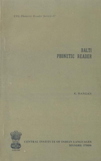 Balti Phonetic Reader